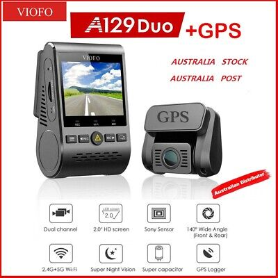 AU225 • Buy VIOFO  A129 Duo GPS  2Lens Dash Camera Twin SONY Star Sensr 5GHz WIFI  AU STOCK
