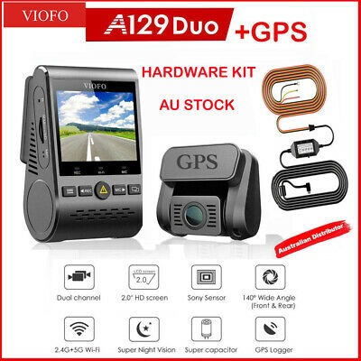 AU245 • Buy VIOFO  A129 Duo GPS  2Lens Dash Camera Twin SONY Star Sensr 5GHz WIFI + HARDWARE
