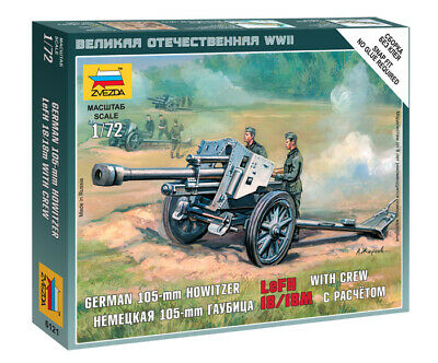 Zvezda 1/72 Figures German 105mm Howitzer LeFH 18/18M With Crew Z6121 • 4.95£