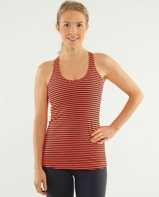$ CDN20 • Buy Lululemon Cool Racerback Tank Top Light Flare Inwell Stripe 6 Small Women's