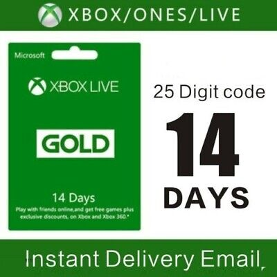 $2.99 • Buy Xbox Live 14 Day Gold Trial Membership Code (2 Weeks) - Xbox One Only - Instant