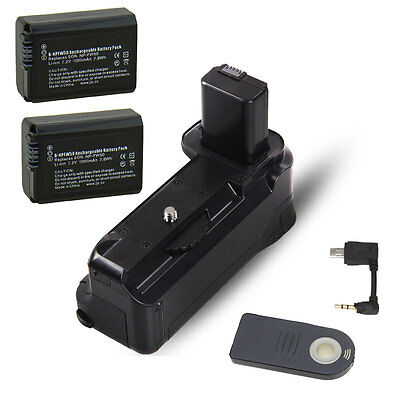 $ CDN66.11 • Buy Power Battery Grip Holder For SONY A6000 A6400 Camera BG-D3IR  + 2pcs NP-FW50