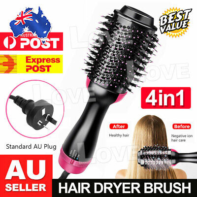 AU29.95 • Buy 4 In 1 One Step Hair Dryer Comb And Volumizer Pro Brush Straightener Curler AU