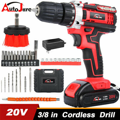 View Details 20V Cordless Drill Li-Ion 2 Speed Electric Battery&charger Driver With Bits Set • 32.50$