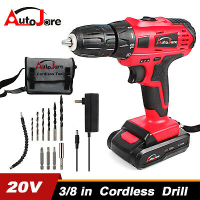 View Details 20V Cordless Drill Li-Ion 2 Speed Electric Battery&charger Driver With Bits Set • 34.90$