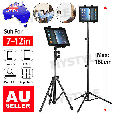 AU29.95 • Buy Universal Floor Tripod Tablets Stand Carrying Bracket Holder For IPad 7-10 Inch