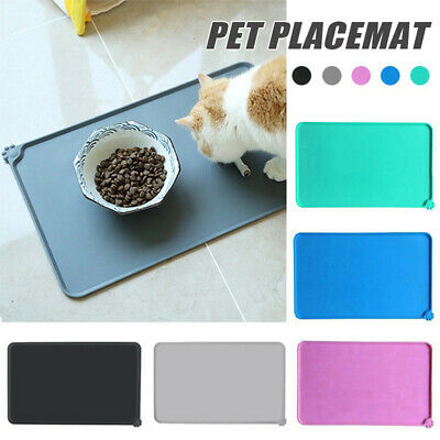 Pet Dog Cat Food Bowl Placemat Waterproof Leakproof Silicone Rubber Feeder Mats, • 7.58£