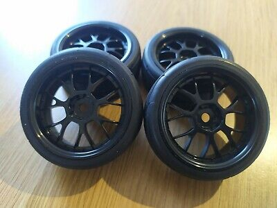 Rc Car 1/10 On Road Touring Car Wheels Tires Foam Inserts  • 16.99£