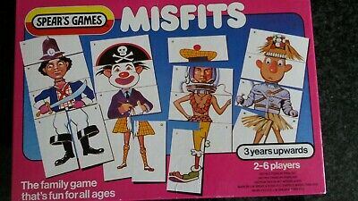 Vintage Spears Games 'Misfits' Age 3 Years Upwards, Complete And Very Good Cond • 8.50£