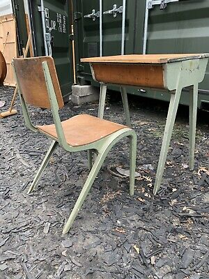 Vintage 1950's Esavian ESA Aluminium Childrens School Desk , Delivery Possible • 80£
