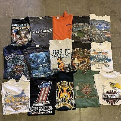 $ CDN203.65 • Buy Vintage Harley Davidson Sturgis Rally Biker Wholesale T Shirt 15 Lot Bundle 00s