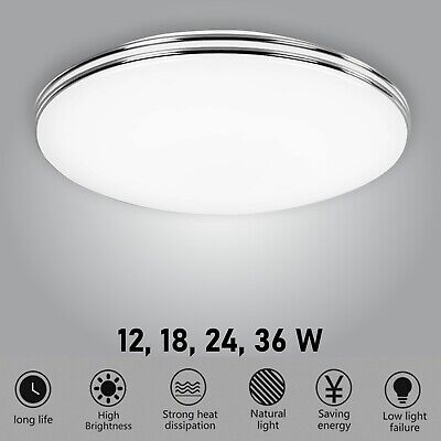 £16.99 • Buy LED Ceiling Light Round Panel Down Lights Bathroom Kitchen Living Room Wall Lamp