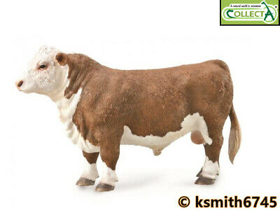 £6.65 • Buy CollectA HEREFORD BULL Solid Plastic Toy Farm Pet Animal Cow Cattle NEW 💥