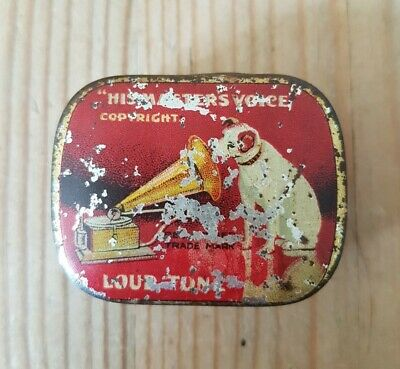 HMV Needle Tin 'Loud Tone' With Paper Insert - Featuring The Famous 'Nipper' • 9.95£