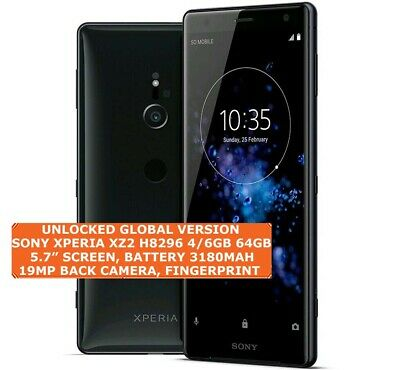 $ CDN504.84 • Buy SONY XPERIA XZ2 H8296 4/6gb 64gb DualSim 19mp Fingerprint 5.7 Android Smartphone