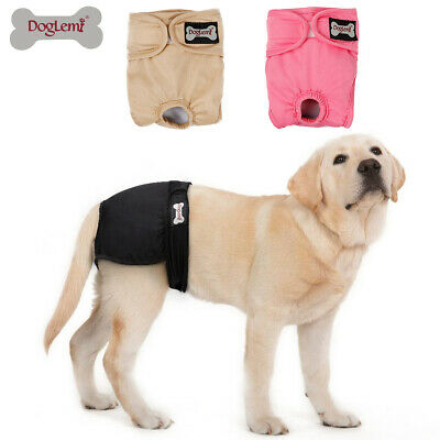 Female Pet Dog Pants Bitch Heat In Season Menstrual Sanitary Nappy Diaper S-XL • 8.89£
