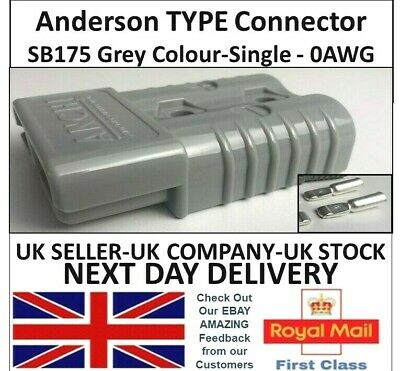 Anderson SB175 Amp Model 0AWG Grey Colour Cable Power Connectors UK Battery  • 5.95£
