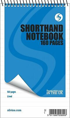 """£4.75 • Buy 3 X 160 Page Reporters Pad Notepad Note Pad  Notebook Shorthand Books 8"""" X 5"""""""