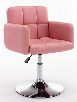 PINK Faux Leather Dressing Table Chair Vanity Stool Bedroom Makeup Soft Seat NEW • 62.95£