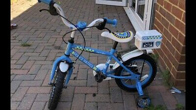 Kids Police  Bike With Stabilisers • 9.99£