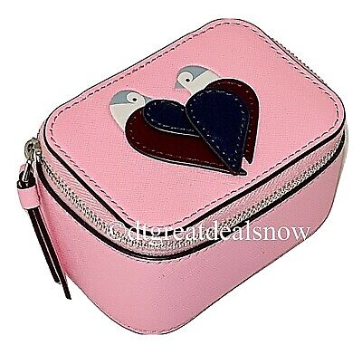 $ CDN55.53 • Buy NWT  Kate Spade Love Birds Jewelry Holder Box In Neon Peony Saffiano Leather