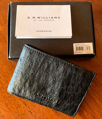 AU110 • Buy RM Williams Black Leather Wallet