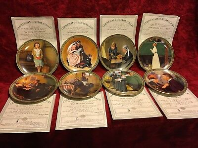 $ CDN40 • Buy Lot 8:  Norman Rockwell  American Dream  Series Collector Plates