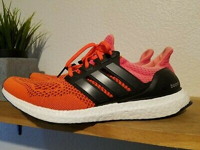 $169.99 • Buy RARE Men´s Adidas Ultra Boost 1.0 OG  Solar Red  Sz 10 Black B34050 Kanye Orange