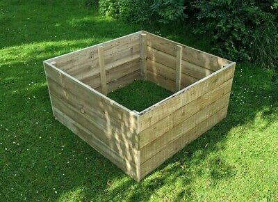Garden Vegetable Herb Raised Bed Planter Tanalised / Plain Timber Wooden Planter • 38£