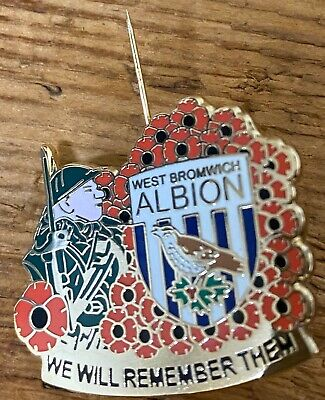 WBA WEST BROMWICH ALBION Poppy Badge We Will Remember Them • 5£