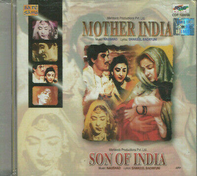 MOTHER INDIA / SON OF INDIA CD Music: Naushad * BOLLYWOOD * HINDI * • 9.99£