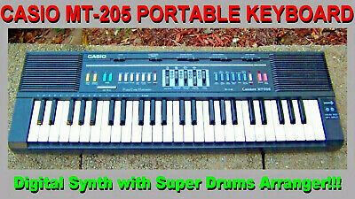 $175 • Buy VINTAGE CASIO MT-205 CASIOTONE KEYBOARD Organ Piano Synth With Drums Arranger GC