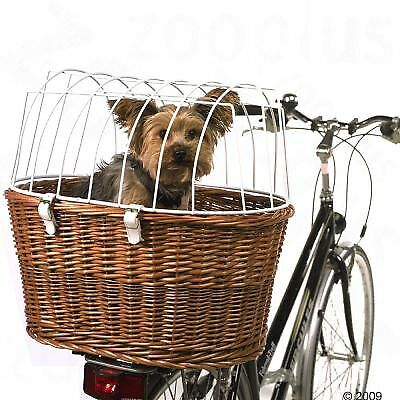 Pet Dog Cat Bicycle Basket Carrier With Wire Durable Wicker Bike Travel Box • 55.79£