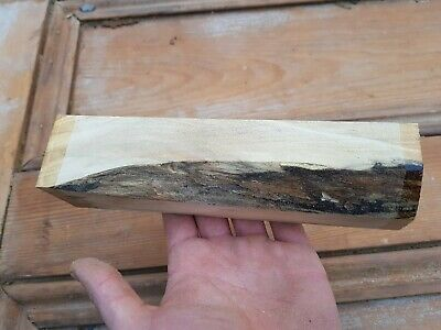 49mm X 49mm X 220mm Spalted Sycamore Woodturning Spindle Blank Well Seasoned     • 15.50£