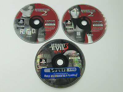 $20 • Buy Lot Of 2 Playstation PS1 Video Game / 3 Discs, Resident Evil 2 3 Nemesis, AS IS