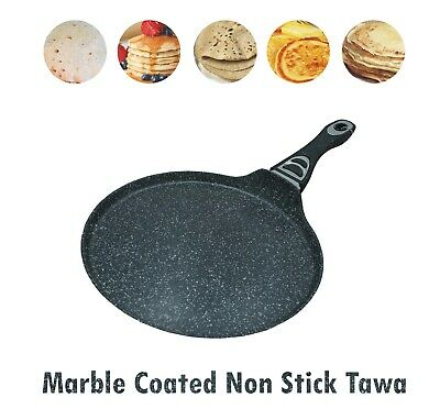 Non Stick Crepe Pan Marble Coated Roti Dosa Tawa Pancake Maker Induction,Gas Hob • 15.99£