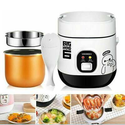 AU45 • Buy Mini Electric Rice Cooker Portable For Student 1-2 Person 1.2L Pot & Spoon