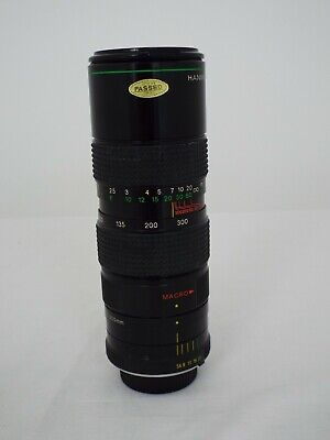 Hanimex - Auto Zoom  - F=75 ~ 300mm - 1:5.6 - Macro - No.8101659 MC • 25£