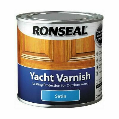 Ronseal Yacht Varnish Satin 1.0l Outdoor Tough Clear Long Lasting Protection • 33.39£