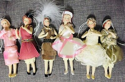 $ CDN13.47 • Buy Lot Of 6 Porcelain Lady Ornament Dolls