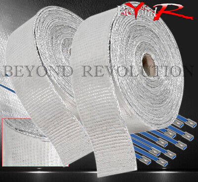 $ CDN53.51 • Buy 360  30Ft Heat Reduction Wrap Shield Cover Catback Exhaust Intake Piping Silver