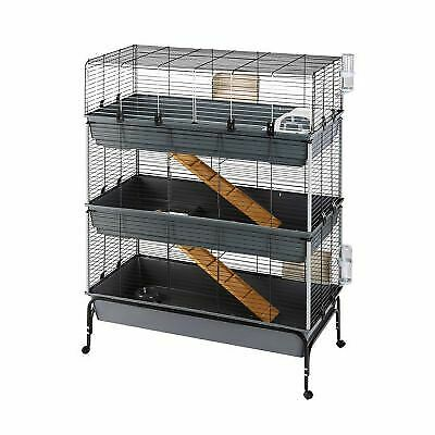 Large 3-Tier Small Pet Cage Rabbit Guinea Pig Indoor House Home Run Ramps • 162.49£