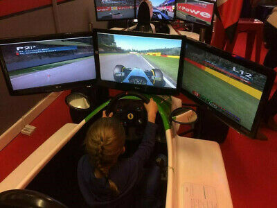 F1 Race Car Simulator Triple Monitor Setup Alienware Pc Now Included  • 2,500£