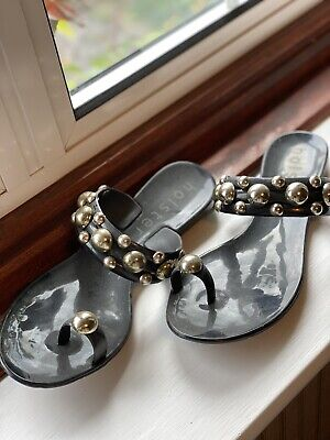 New Holster Silver Studded Sandals Size 5 • 5£