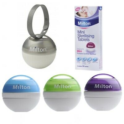 MILTON Mini Travel Baby Soother Teat Dummy Steriliser + FREE Sterilising Tablets • 7.95£
