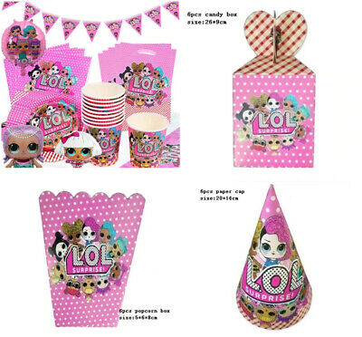 LOL DOLL Birthday Party Decorations Supplies Pop Corn Sweet Plates Banner Cups   • 3.69£