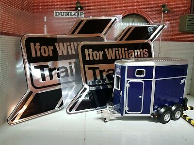 $ CDN63.37 • Buy Ifor Williams Black Horsebox Horse Trailer HB506 HB511 Bubble Decal Stickers X2