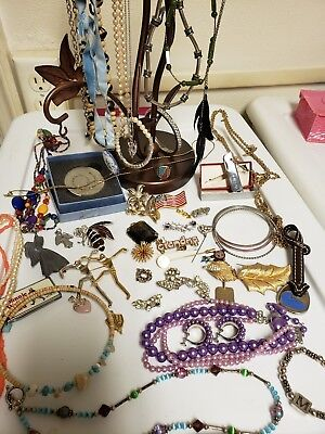 $ CDN74.48 • Buy Mix Lot Vintage To Now Jewelry Rhinestones Unsearched Untested