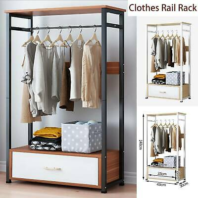 AU120.64 • Buy Clothes Rail Rack Garment Hanging Open Wardrobe Organizer Armoire Storage
