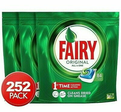 AU99.99 • Buy Fairy Dishwasher Tablets All In One 252PK Rinse & Clean Dishwashing Clean Action